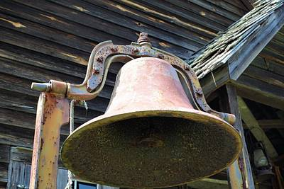 Photograph - Old Schoolhouse Bell by Lynnette Johns