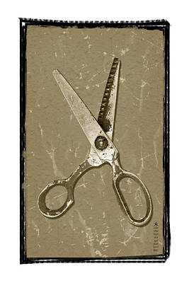 Outmoded Photograph - Old Scissors by Steeve Dubois