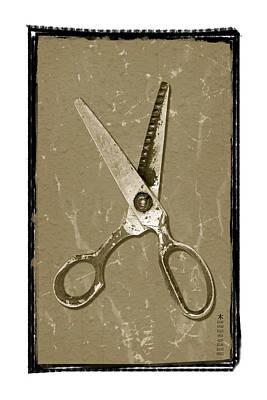 Old Scissors Art Print by Steeve Dubois