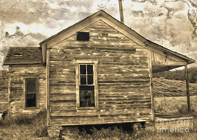 Old Shack Art Print by Gregory Dyer