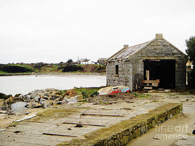 Old Shed By The Sea Art Print by Alan MacFarlane