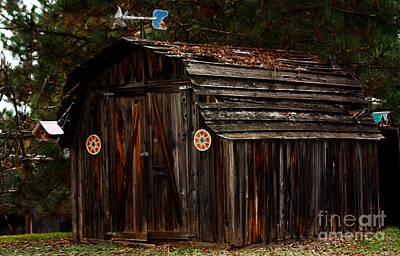 Weathervane Photograph - Old Shed Oakhurst by Marjorie Imbeau