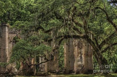 Photograph - Old Sheldon Church V by David Waldrop