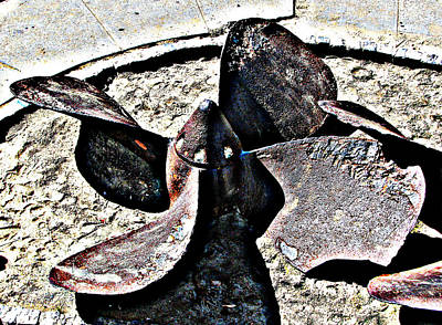 Photograph - Old Ship Propellor 2 by Samuel Sheats