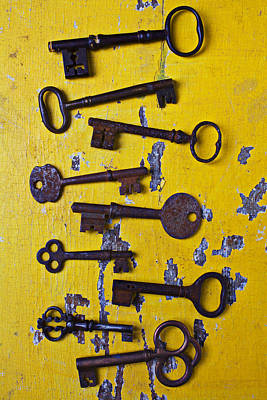 Chip Photograph - Old Skeleton Keys by Garry Gay