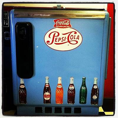 Old Soda Machine #drinks #soda #pepsi Art Print