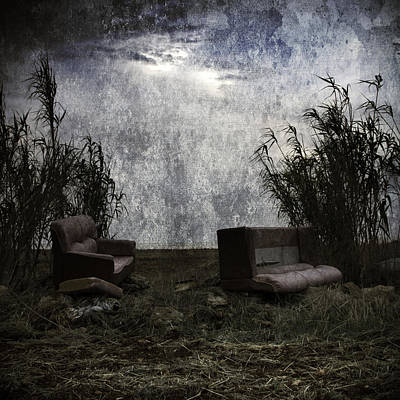 Dinner Digital Art - Old Sofas by Stelios Kleanthous