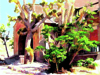 Digital Art - Old Spanish Mission by Gary Baird