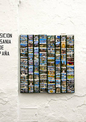 Old Spanish Postcards In Spanish Village Art Print by Perry Van Munster