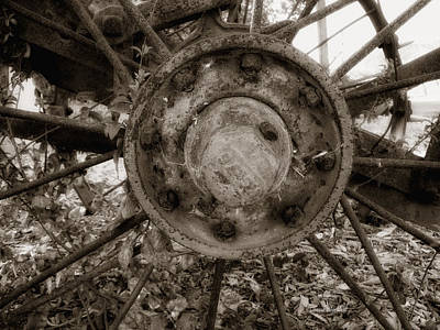 Wagon Wheels Photograph - Old Spokes Home by Donna Blackhall