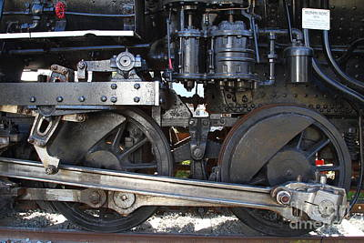 Sante Fe Photograph - Old Steam Locomotive Engine 1258 . Wheels . 7d13000 by Wingsdomain Art and Photography