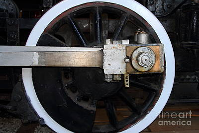 Old Steam Locomotive Engine 5 . The Little Buttercup . Train Wheel . 7d12916 Art Print by Wingsdomain Art and Photography