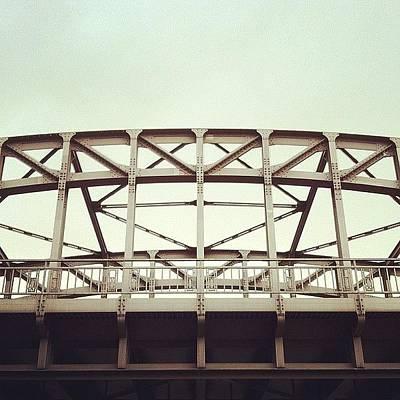 Steel Photograph - Old Steel Bridge #steel #bridge by Valnowy Photography