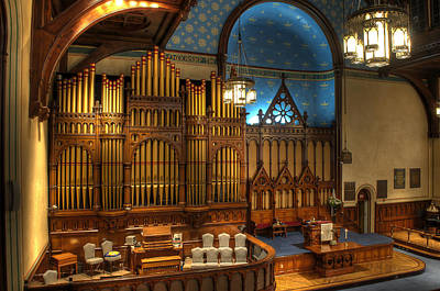 Photograph - Old Stone Church Organ by At Lands End Photography
