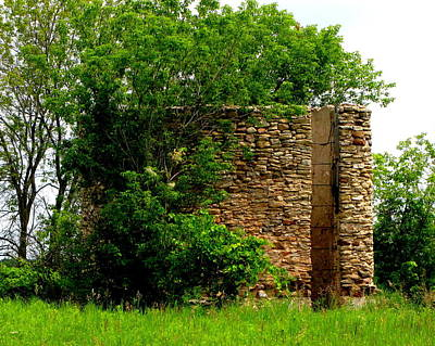 Photograph - Old Stone Silo by Ms Judi