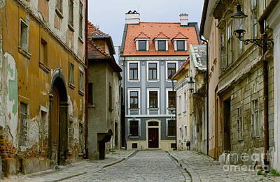 Photograph - Old Street In Bratislava by Les Palenik