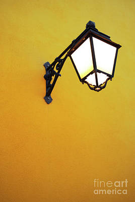 Notice Photograph - Old Street Lamp by Carlos Caetano
