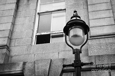 Old Sugg Gas Street Lights Converted To Run On Electric Lighting Aberdeen Scotland Uk Art Print by Joe Fox