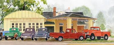 Painting - Old Super Sales Garage by Phyllis Martino