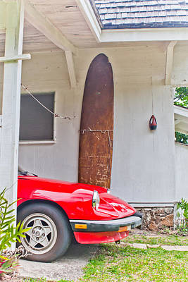 Photograph - Old Surf Board by Lannie Boesiger