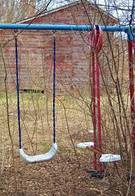 Photograph - Old Swing Set-2 by Todd Sherlock