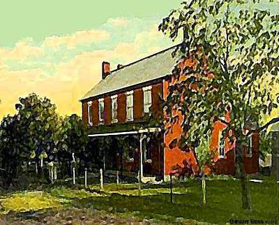 Old Tavern In Scenery Hill Pa Art Print by Dwight Goss