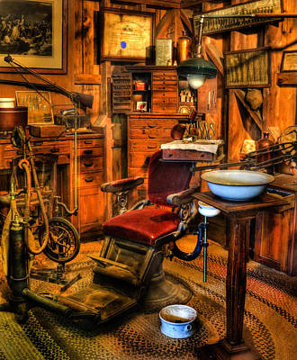 Old Time Dentist II -  Dentistry - Dentist Chair -  Surgery - The Dentist Chair - Office Art Print by Lee Dos Santos