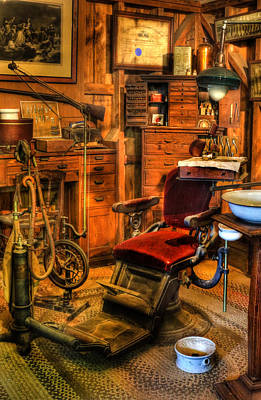 Old Time Dentist Office -  Dentistry - Dentist Chair -  Surgery - Dentist Chair Iv Art Print by Lee Dos Santos