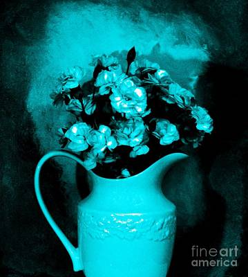 Old Pitcher Digital Art - Old Time Pitcher Bouquet by Marsha Heiken