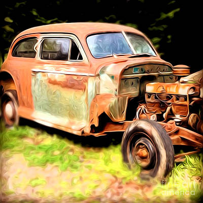Old Timer Art Print by Laura Brightwood