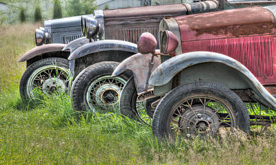 Old Trucks Photograph - Old Timers by Naman Imagery