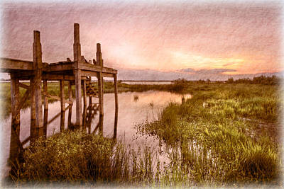 Old Times Dock Art Print by Debra and Dave Vanderlaan