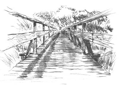 Loose Style Drawing - Old Tim's Bridge by Tom Maddalena