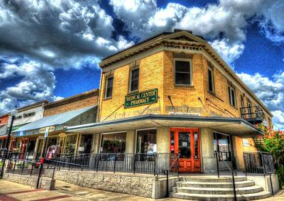 Photograph - Old Town Bryan Drug Store by David Morefield