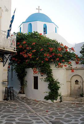 Photograph - Old Town Church Paros by Lorraine Devon Wilke