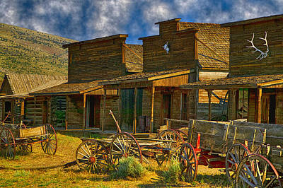 Old Town Cody Wyoming  Art Print by Garry Gay