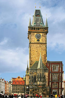 City Hall Photograph - Old Town Hall Prague Cz by Christine Till