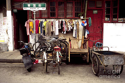 Old Town In Shanghai Art Print by Rafael Macia and Photo Researchers