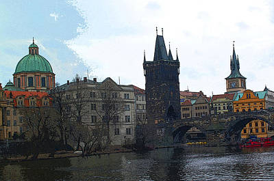 Old Town Prague Print by Paul Pobiak