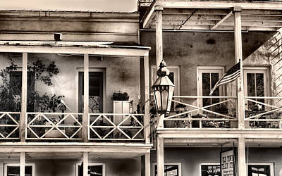 Gas Lamp Photograph - Old Town Sacramento Living by Sally Bauer