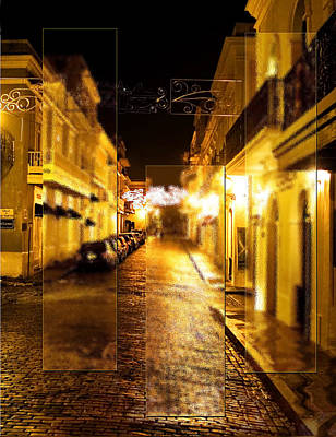 Digital Art - Old Town San Juan by Gordon Engebretson