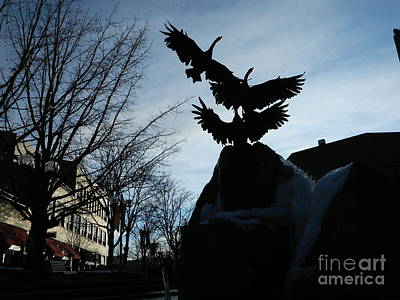 Fort Collins Photograph - Old Town Silhouette  by Sara  Mayer