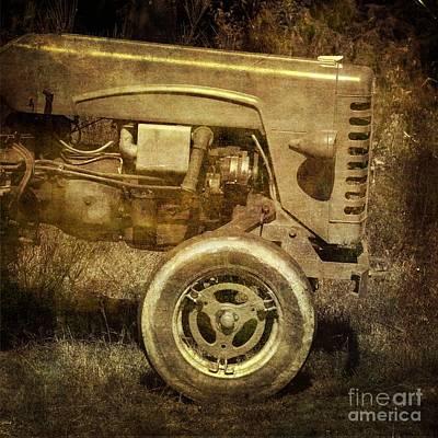 Old Tractor Art Print by Bernard Jaubert