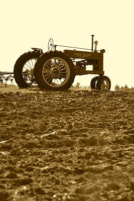 Photograph - Old Tractor I In Sepia by JD Grimes