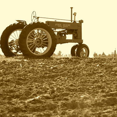 Photograph - Old Tractor II In Sepia by JD Grimes