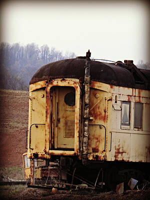 Old Train Car Art Print by Brenda Conrad