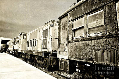 Photograph - Old Train Cars by Cheryl Davis
