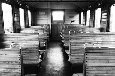 Old Train Compartment Art Print by Falko Follert