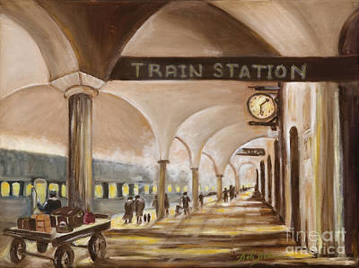 Painting - Old Train Station by Pati Pelz