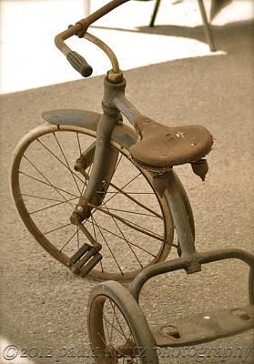 Old Trike Art Print by Paula Deutz